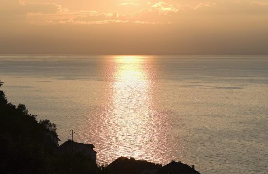 Coucher du soleil depuis le Prieuré