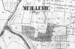meillerie-ancien-cadastre-mairie-eglise 1860 env.