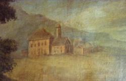 détail tableau St Bernard